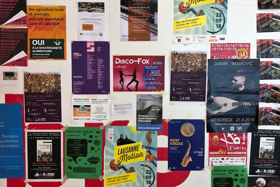 Posters at Lausanne